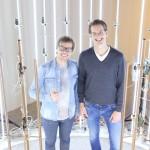 Giel Beelen en Jaap Termeer i nde scanning booth bij Replicad