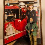 Voor een oud lid van de brandweer hebben we een mooi 3D beeldje gemaakt en deze gefotografeerd naast een foto van vroeger.