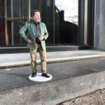 Het 3D beeldje van een oud lid van de brandweer