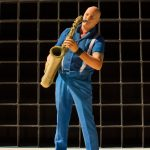 Robbert van BZB met zijn saxofoon