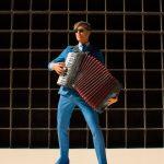 Ben van BZB met zijn accordeon
