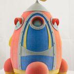 3D Print van de full color raket met handgemaakte rotorbladen.