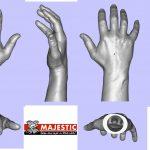 3D data van de gescande hand