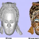 3D scan van het spijkerbeeld gemaakt in het depot van het WereldmuseumCopyright foto Frederic Dehaen.
